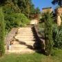 De tuin van onze B&B in de Dordogne