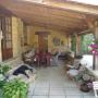 De veranda van onze B&B in de Dordogne